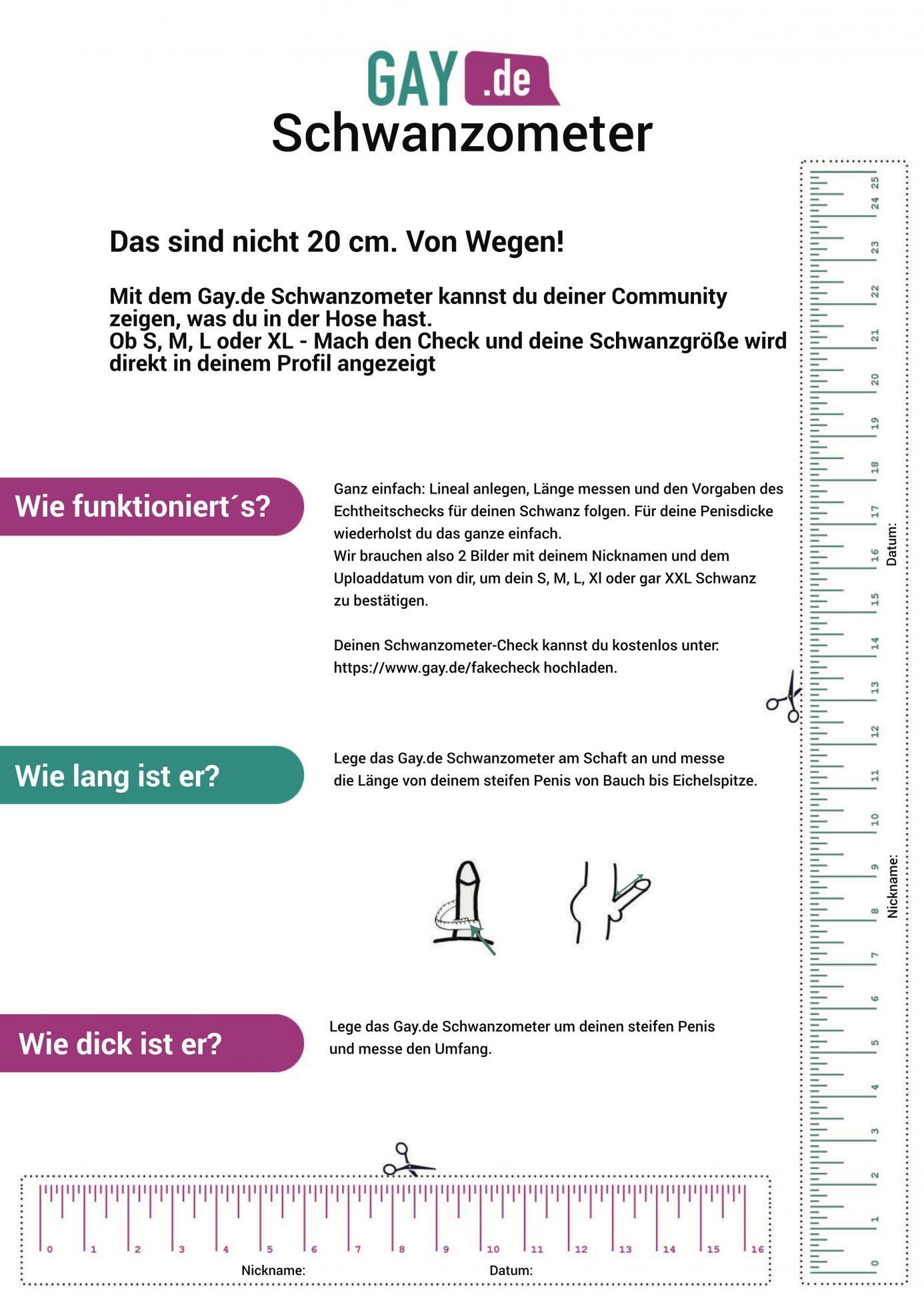 Gay.de Schwanzometer