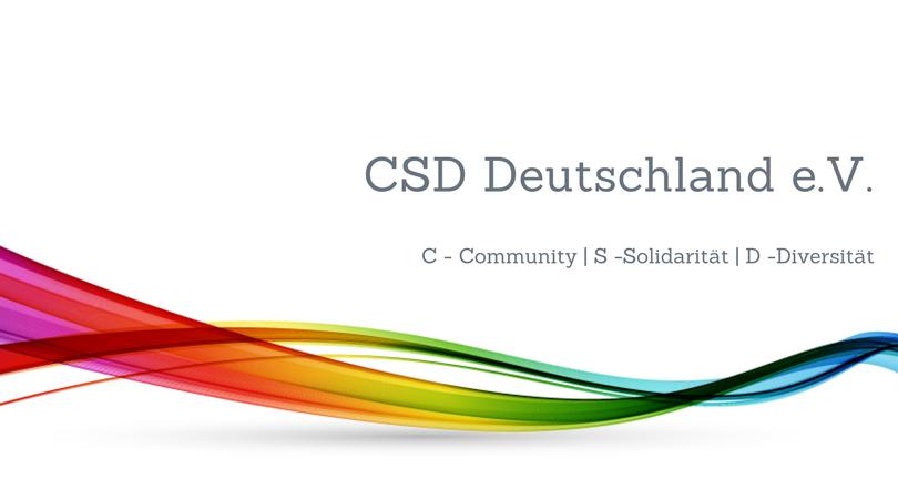 Gay.de ist Fördermitglied des CSD Deutschland e.V.