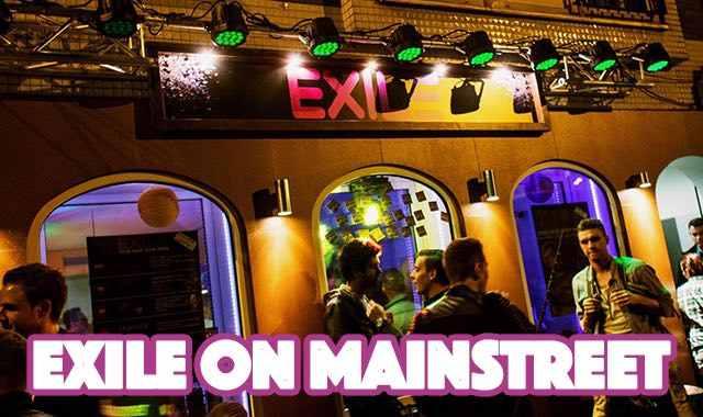 Der schwule Tanzclub Exile in der Schaafenstraße