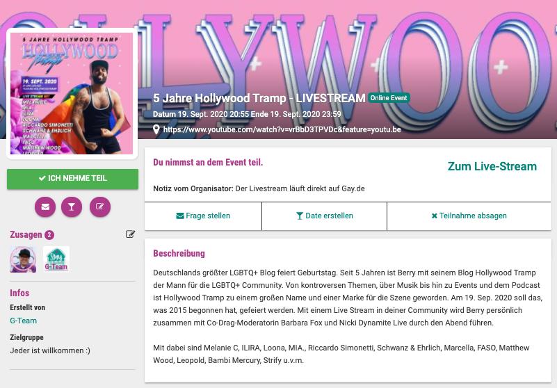5 Jahre Hollywood Tramp - Happy Birthday Berry! - Gay Gossip - Gay Magazin - LGBT News, schwules